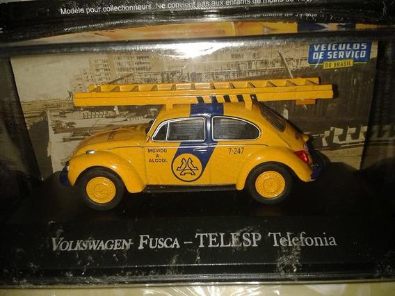 Miniatura Vw Fusca Telesp - 1:43 - Acompanha Revista !!!