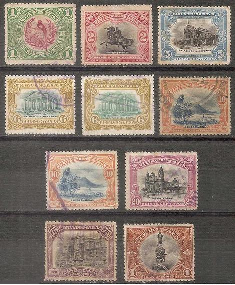 Guatemala Antigua De La Serie Año 1902 X10 Valores Distintos
