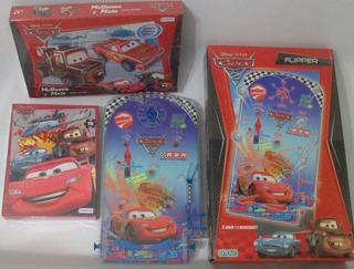 Flipper Disney Cars + Cars Para Armar + Puzzle Imperdible!