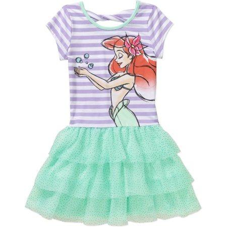 Rayado Arco Volver Tutu Disney Sirenita Ariel Girls