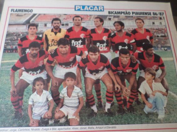 Poster Flamengo Bi Campeão Piauí 1987 Placar 21 X 27 Cm