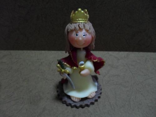 Virgen De Santa Barbara- Masa Flexible- Recuerdo (unidad)
