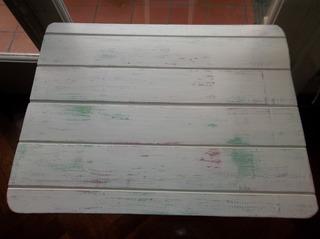 Mesa Decapada En Tonos Pasteles Decoupage Plegable