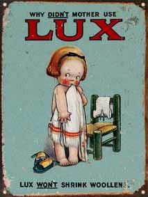 Cartel De Chapa Publicidad Antigua Jabon Lux P683