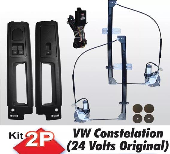 Kit Vidro Eletrico Caminhao Vw Constelation Original 24v