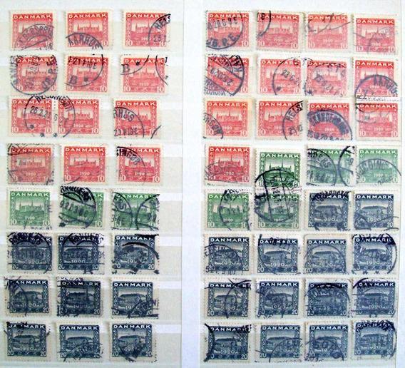Dinamarca - Lote 56 Sellos Serie Schleswig 1920 Usados L3239