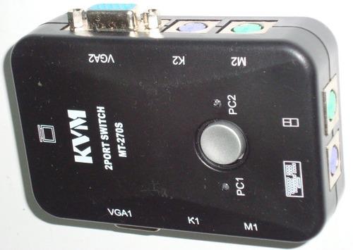 Kvm 2 Puertos Vga Switch 2 Set 3 En 1 Usb Kvm Para Pc Laptop