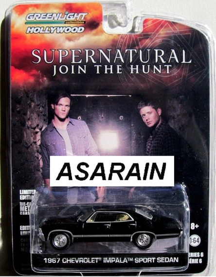 Impala Ss 1967 Supernatural Sport Sedan Greenlight - 1/64