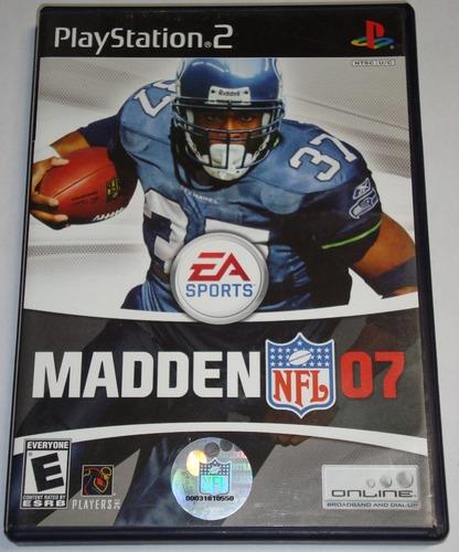 Cq Juego Original Madden 2007 Ntsc Ps2 Playstation 2 Usado