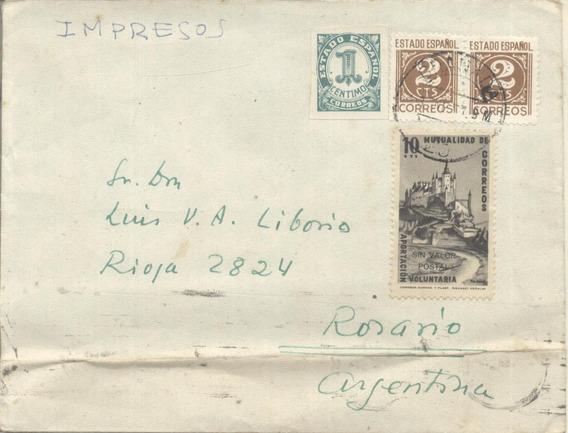España - Sobre Circulado Granada Rosario 195? (#2118)