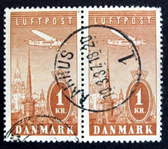 Dinamarca - Aéreo Yv. 10 Pareja Matas. Completo Usado L0302