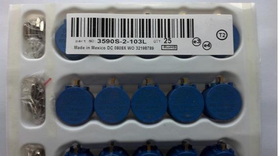 5x Potenciometro 10 Voltas 10k Bourns 3590 Novo E Original