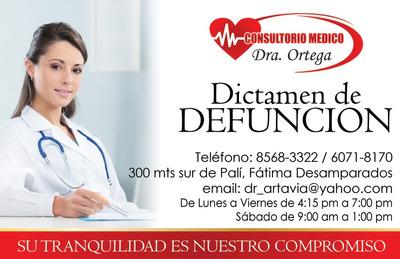 Medico Dictamen, Licencia, Incapacidad Defunción A Domicilio