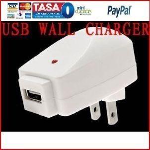 Cargador Pared Usb Blanco Ac Adapter Mp3 Us Plug Pc iPhone