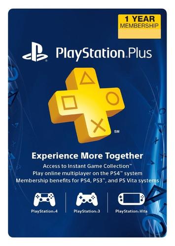 Playstation Plus, Tarjeta Prepago De 12 Meses Usa, Psn,ps4