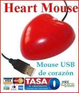 Mouse Usb Óptico 3d Corazón Pc Laptop N8 3g Xp/vista/7 Lte