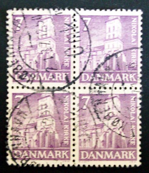 Dinamarca - Blq X 4 Sellos Yv 242 Igl Nikolai 7o Usado L3249