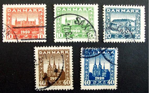 Dinamarca - Serie Yv. 122-126 Altos Usados L0008