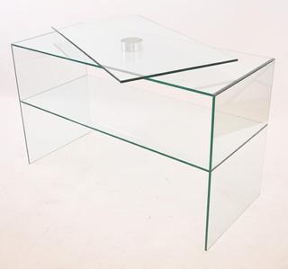 Mesa Con Tapa Giratoria Vidrio. Moderna. Ideal Para Tv.