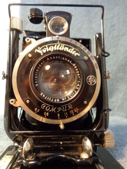 Câmera Fotográfica De Fole Voigtländer Avus Ano 1920
