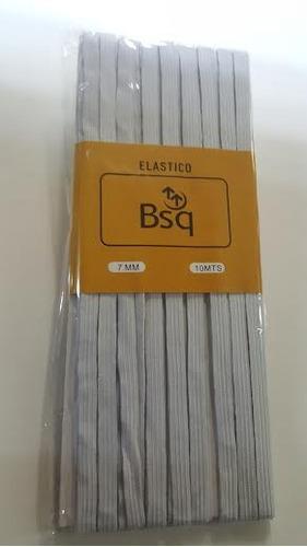 Elastico Bsq 7 Mm Pieza Blanco 10 Mts - Pack 3 Unidades