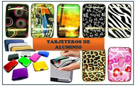 Tarjetero Aluma Wallet Varios Diseños Remate