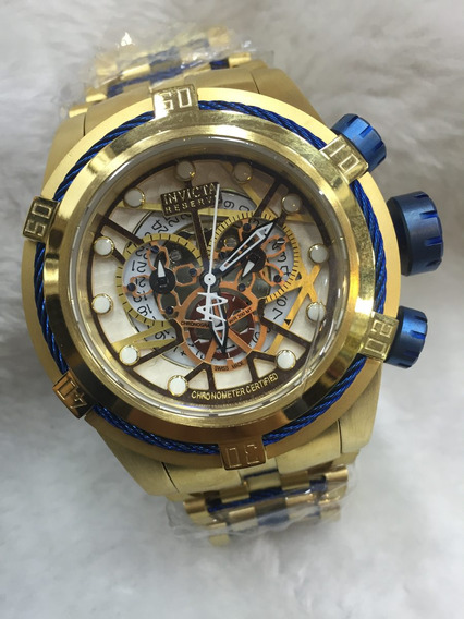 Invicta Bolt Zeus Skeleton Quartz Com Caixa Original