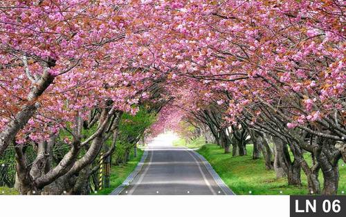 Imagem 1 de 6 de Cerejeira Japonesa Jardim Rosa Painel 4,00x1,80m Lona Festa