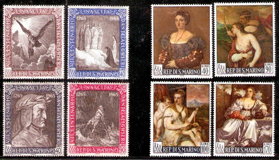 Arte - Pinturas - 2 Series Completas Mint - San Marino 1965