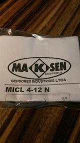 Sensor Indutivo Cilindrico Namur 12mm Marca Maksen