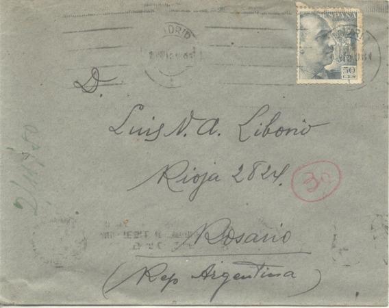 España - Sobre Circulado - 1951 (#2125)