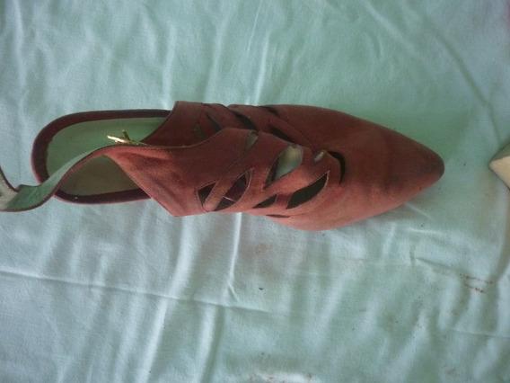 Zapatos Nobuk Color Salmon Poco Uso