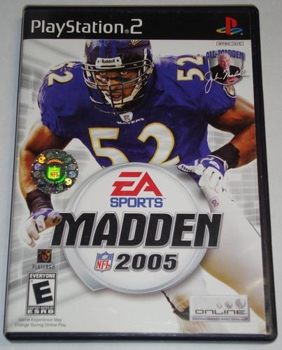 Juego Original Madden 2005 Ntsc Ps2 Playstation 2 Usado
