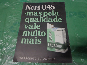 Propaganda Laçador Década 60 Nc$ 0,45 Mede 35cm X16cm