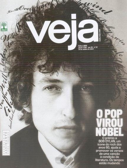 Revista Veja Bob Dylan Prêmio Nobel Literatura 2016.