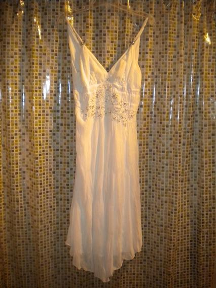 Vestido De Fiesta Blanco - Oportunidad!!