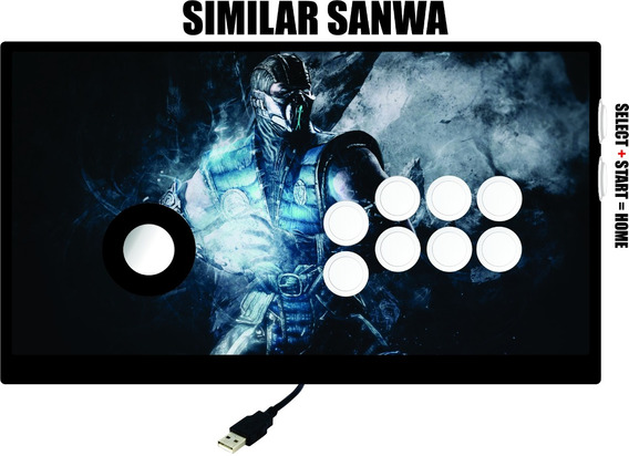 Controle Arcade Similar Sanwa 360/ Pc Com Fio (placa 360)