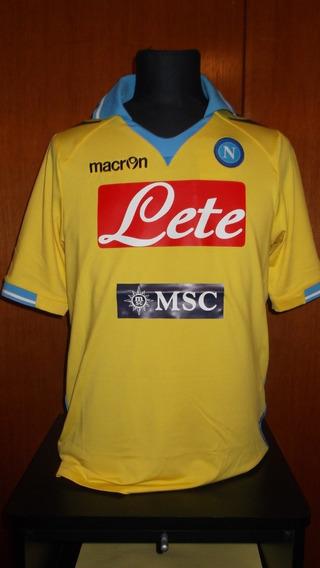 Camiseta Del Napoli Macron Amarilla Lavezzi Utileria