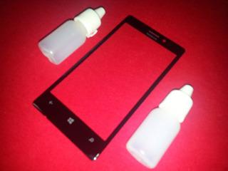 Vidro Nokia Lumia 925+cola Líquid Uv Visor Lente Tela Touch
