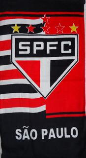 Toalha São Paulo Tricolor Aveludada Rosto Lavabo 30 X 50