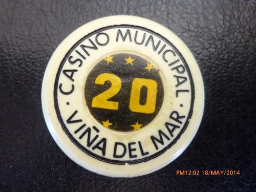 Ficha Casino De Viña Del Mar 20 Pesos (ch174