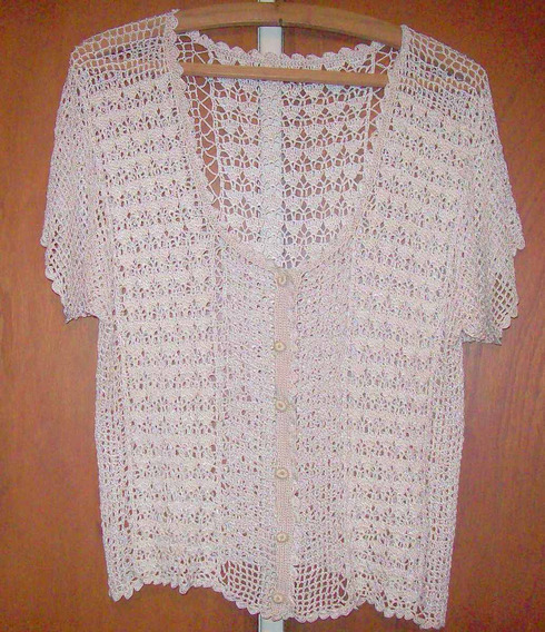 Casaca Chaleco Remera Saquito Crochet Talle Unico