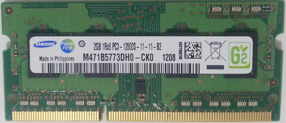 Memoria Notebook 2gb Ddr3 1600mhz 1rx8 Pc3-12800s Samsung