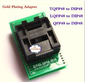 Adaptador Tqfp48 Qfp48/ Pqfp48 To Dip48