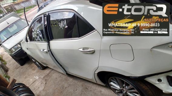 Sucata Corolla Altis 2016 Automático Top De Linha