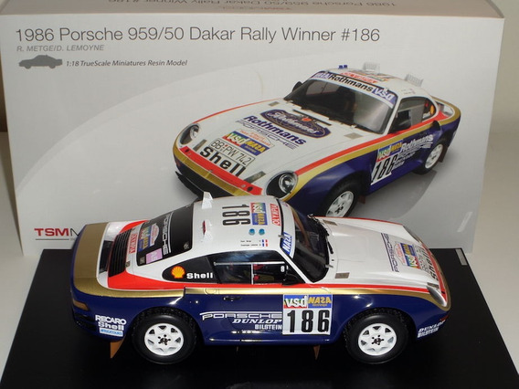Miniatura Porsche 959/50 Paris Dakar Winner Tsm Escala 1/18