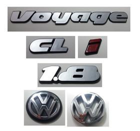 Kit Emblema Volkswagen Voyage Cl I 1.8 Vw Mala E Grade 90/97