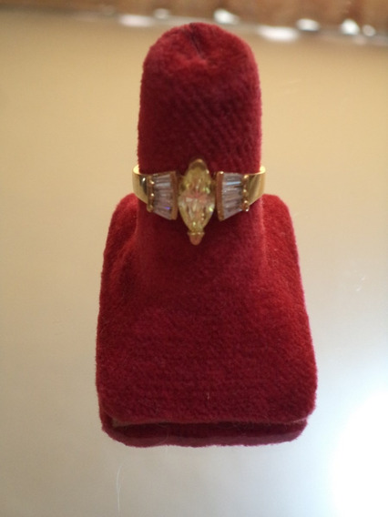 Anillo De Oro Laminado Diamante Y Zirconias Joyeria Fina # 6