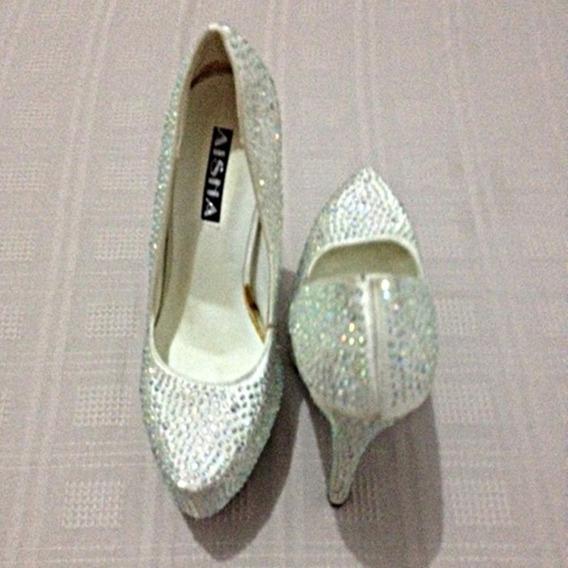 Sapato Feminino Salto Alto Importado Mostruário Luxo Brilho