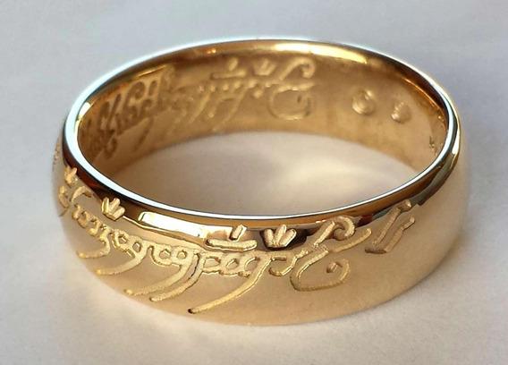 Anillo 10 K Oro Sauron Señor Los Anillos Frodo Bilbo